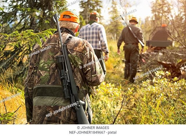 Men at hunting