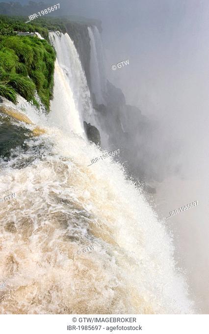 Iguazu or Iguaçu falls, Unesco World Heritage Site, Misiones province, Argentina, South America