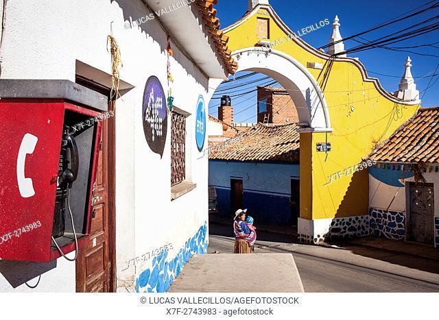 Arco de Mejillones,calle Mejillones, Potosi, Bolivia
