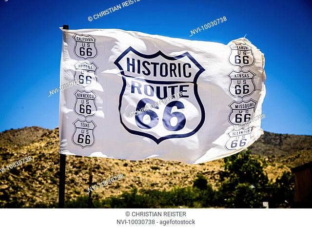 Flag of Historic Route 66, Arizona, USA