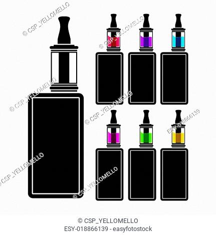 vaping device - colorful liquid