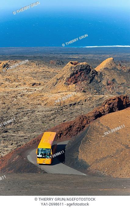 Espagne, Iles Canaries, Lanzarote, Parc national de Timanfaya