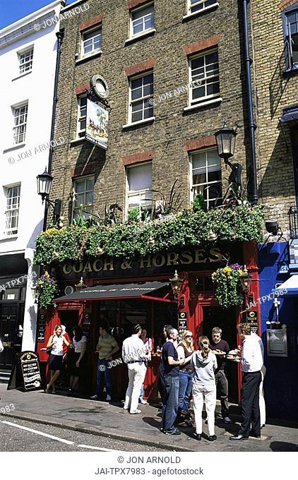England,London,Covent Garden,Coach and Horses Pub