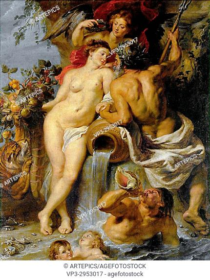 Peter- Paul Rubens. . The Union of Earth and Water. 1618. Hermitage Museum - Saint Petersburg