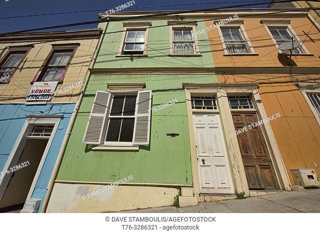 Colorful architecture in UNESCO World Heritage Valparaiso, Chile