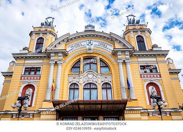 Lucian Blaga National Theatre in Cluj-Napoca city in Romania