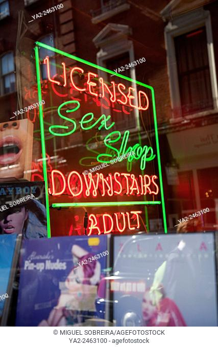 Sex Shop Sign - in Soho - London UK