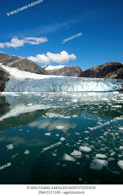 View of the glacier face of the LeConte Glacier, a tidal glacier in LeConte Bay, Tongass National Forest, Southeast Alaska, USA