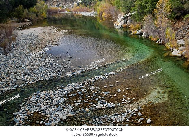 Natural cchannel in the South Yuba River, South Yuba River State Park, Nevada County, California