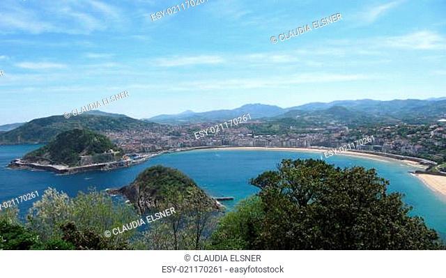 Blick vom Monte Igueldo auf San Sebastian/Spanien