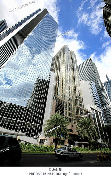 Modern architecture in the business district, Makati district, Manila, Philippines, Asia