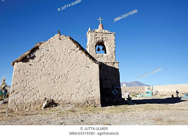 Bolivia, Los Lipez, San Juan, church, cemetery