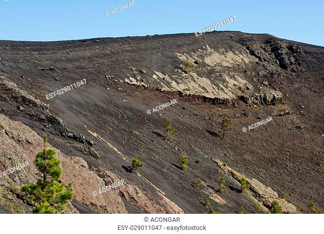 Volcano San Antonio, Fuencaliente, La Palma, Canary Islands, Spain