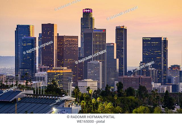 Los Angeles skyline, California, USA