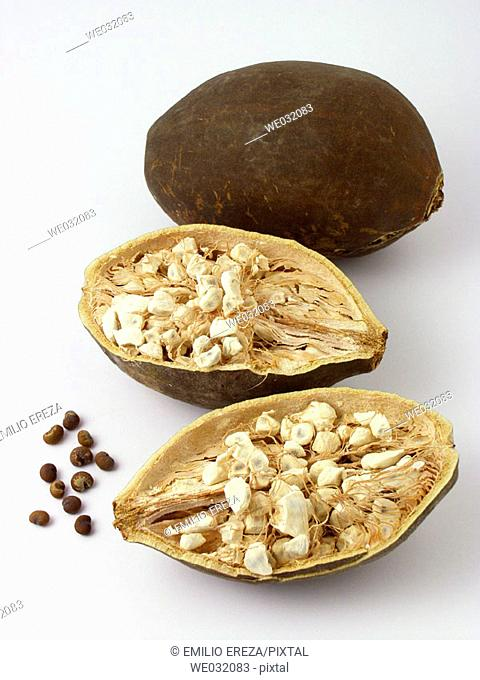 Baobab fruits and seeds