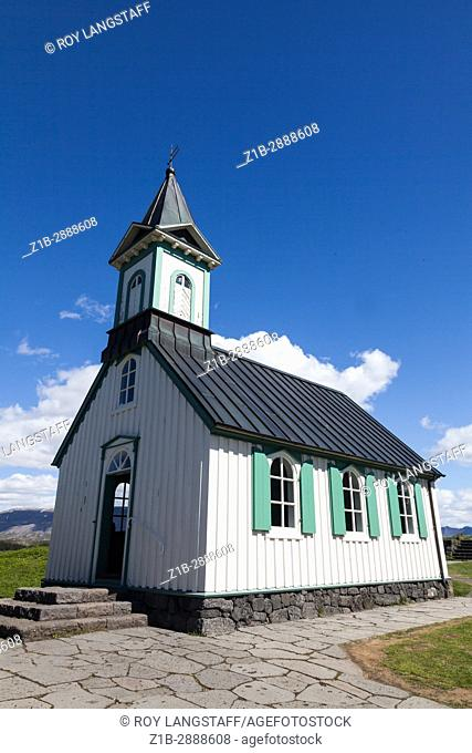 The Church at the Thingvellir UNESCO World Heritage Site in Iceland