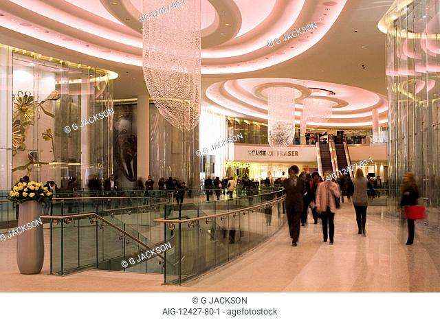 Westfield Shopping Centre, White City, Shepherds Bush, London. Architect: Michael Gaballini and Kimberley Sheppard