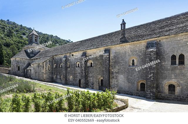 The Senanque Abbey near Gordes is one of the best preserved Cistercian monasteries. Vaucluse, Provence, France