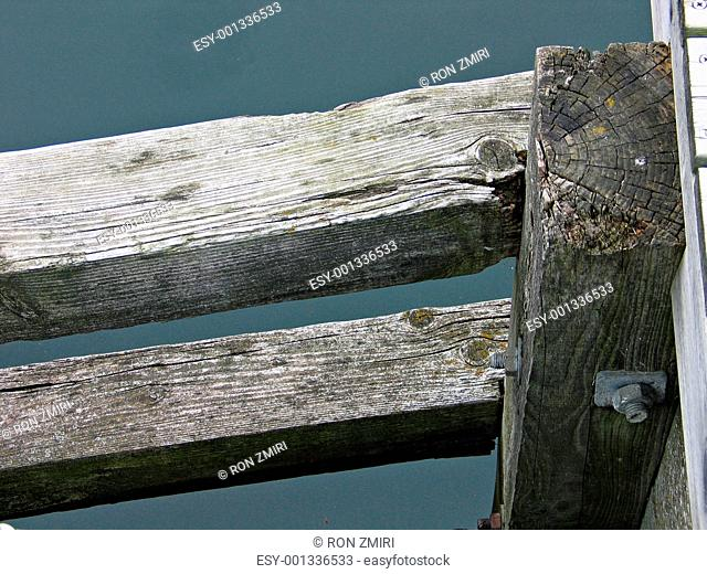 Wooden dock - close up