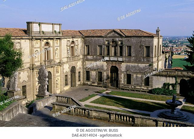 Villa Duodo, 1592-1593, Vincenzo Scamozzi (1548-1616), before restoration, Monselice, Veneto. Italy, 16th century