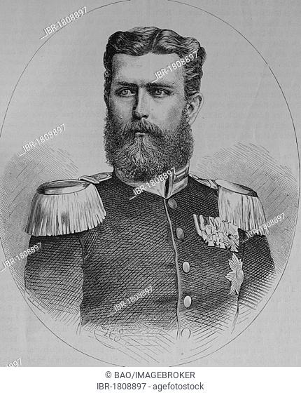 Leopold, Prince of Hohenzollern, historic illustration, illustrated war chronicle 1870 to 1871, German campaign against France