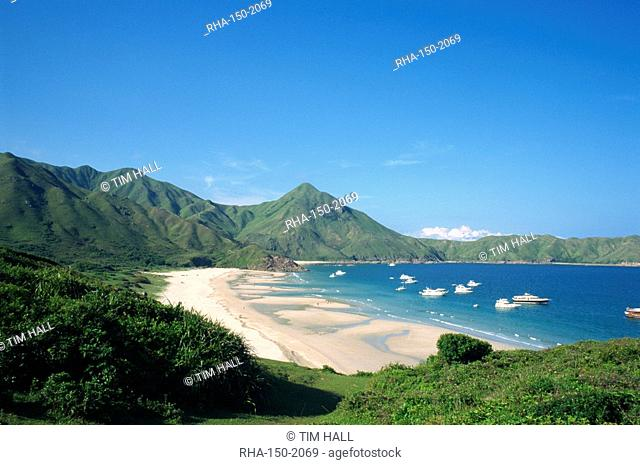 Landscape of Dai Long Wan Beach in the New Territories in Hong Kong, China, Asia