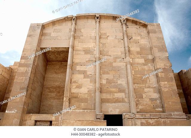 Saqqara Cairo Egypt, the Djoser pyramid:the Heb Sed court