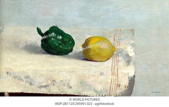 Lemon and Pepper, by Odilon Redon, 1901, Gemeentemuseum, The Hague, Netherlands, Europe