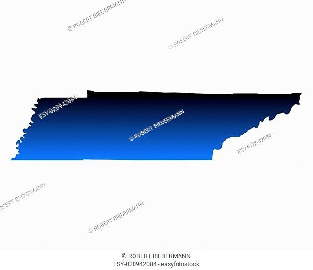 Karte von Tennessee