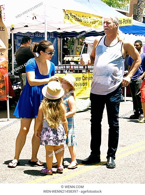 Ariel Winter's father enjoys Father's Day with family at Studio City Farmers Market with his granddaughter Skyler Featuring: Glenn Workman
