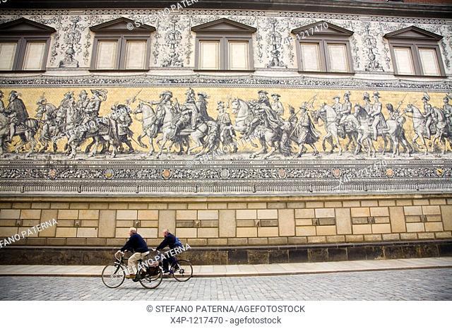 Furstenzug or Procession of princes, Dresden, Germany