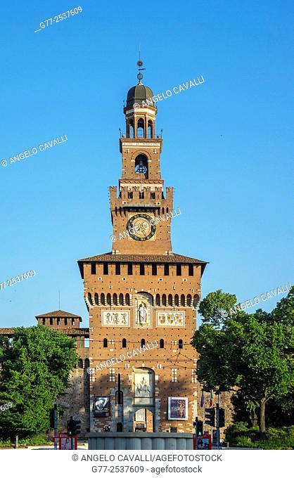 Torre del Filarete, Sforza Castle, Milan, Lombardy, Italy