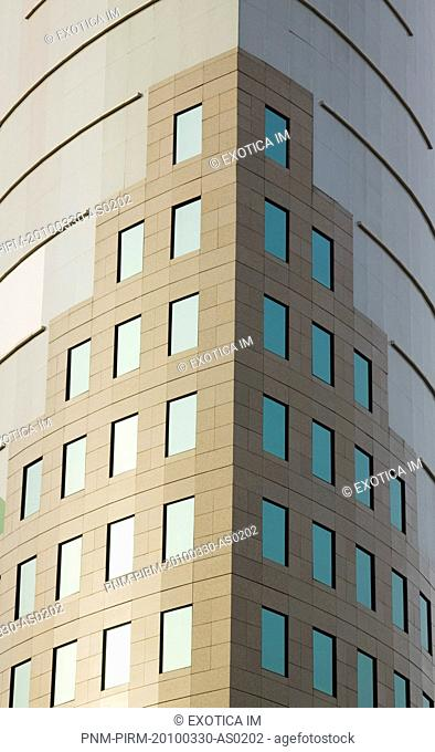 Architectural details of an office building, Gurgaon, Haryana, India