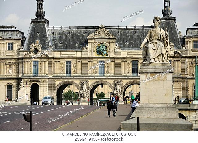 Paris. The Louvre or the Louvre Museum