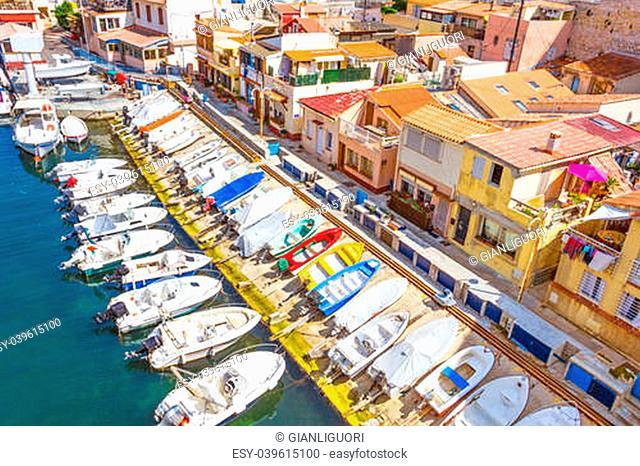 Port in Vallon des Auffes, Marseilles, France