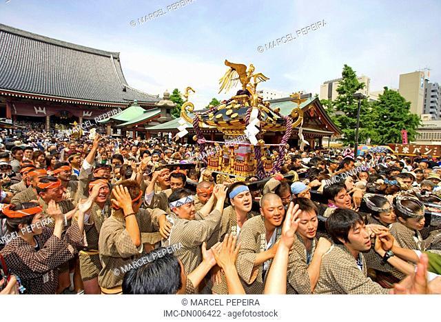 Japan, Tokyo, yearly festival Matsuri