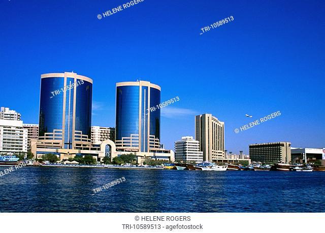 Buildings & Dhows Dubai Creek Dubai UAE