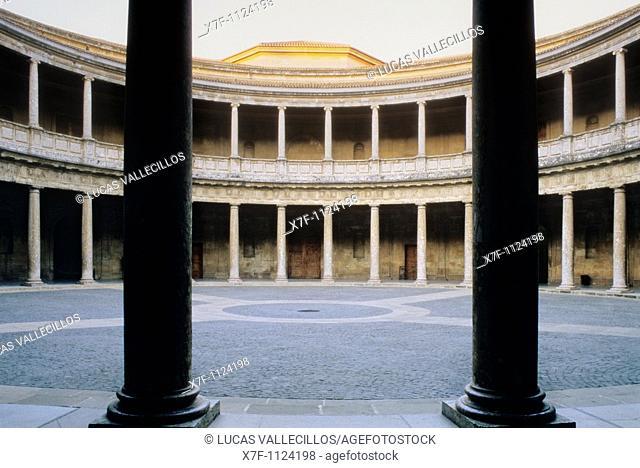 Charles V's palace, Alhambra  Granada  Andalusia  Spain