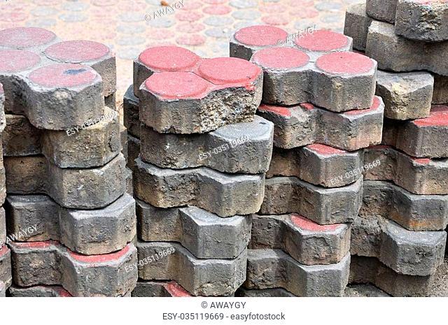 Bricks for building, Street way