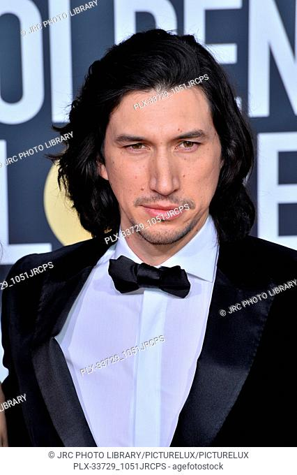 LOS ANGELES, CA. January 06, 2019: Adam Driver at the 2019 Golden Globe Awards at the Beverly Hilton Hotel. © 2019 JRC Photo Library/PictureLux ALL RIGHTS...