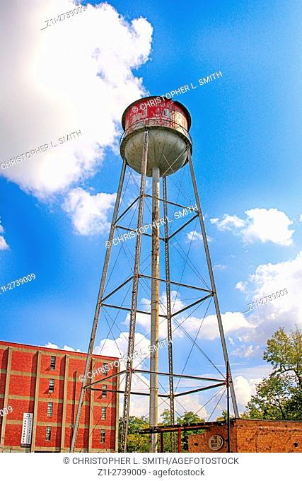Old water tower off off Manchester Street in the Distillery District of Lexington KY