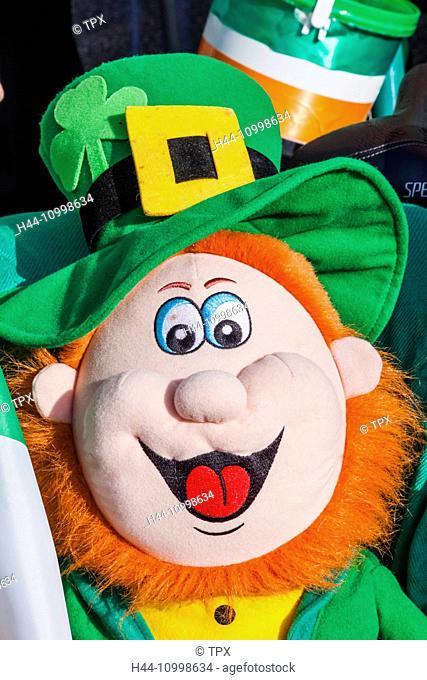 England, London, St.Patrick's Day Parade, Leprechaun Doll