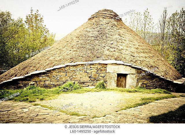 Payoza in O'Cebreiro, Lugo province, Galicia, Spain