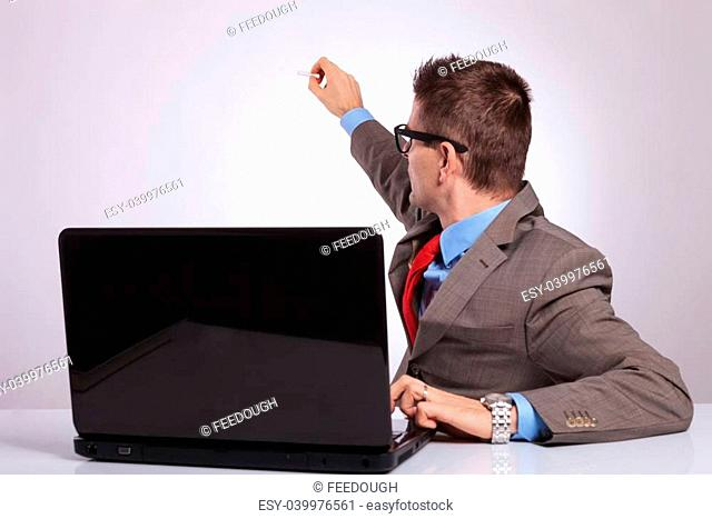 boys behind a computer screen stock photos and images age fotostock