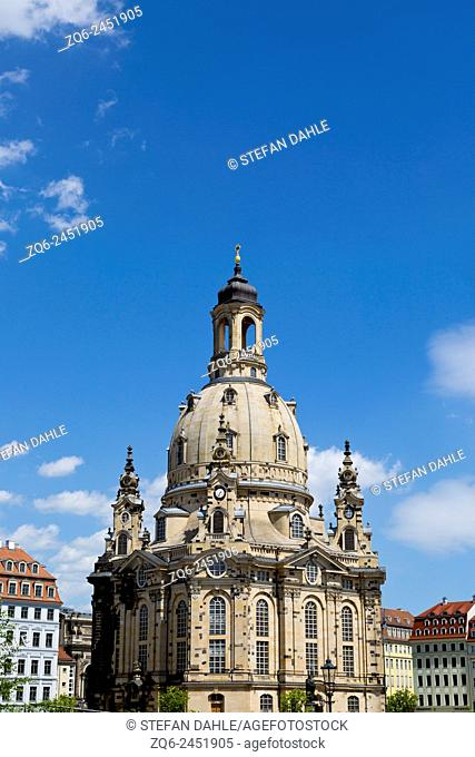 The Frauenkirche (Church of our Lady) in Dresden