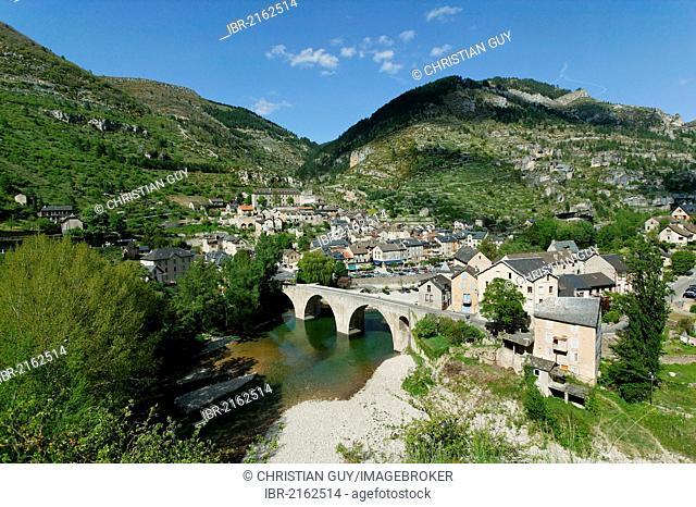 Ste Enimie, labelled Les Plus Beaux Villages de France, the most beautiful villages of France, Gorges du Tarn, the Causses and the Cevennes