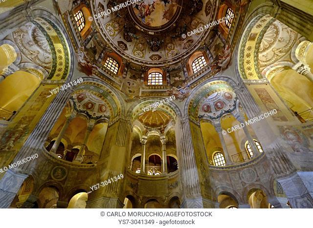 The Basilica of San Vitale, Ravenna, Italy, Europe