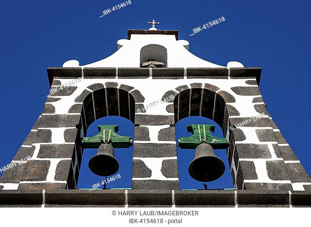 Church bells of the Virgen de Candelaria Igelsia church, Tijarafe, La Palma, Canary Islands, Spain