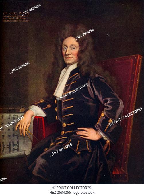 'Sir Christopher Wren', 1711. Artist: Sir Godfrey Kneller