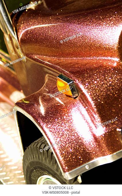 Carnival car ride closeup